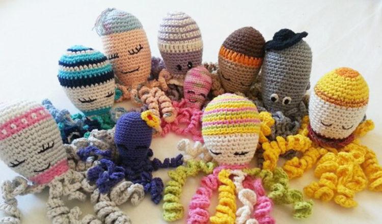pulpos de crochet